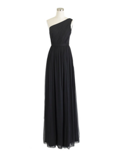 Black jcrew formal bridesmaid dress