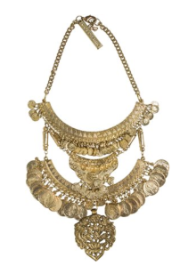 gold statement coin necklace