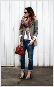 Scarf with Blazer